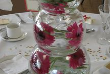 Fish bowls flower displays