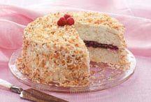 Raspberry cocoanut cake