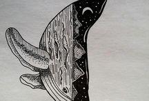 Ballenas dibujo