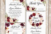 Wedding invitation suite-wattercolor
