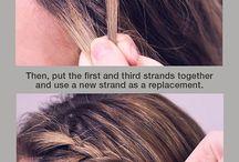 Frisur geflochten