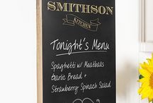 Personalized Chalkboard Signs / Our popular Personalized Chalkboard Signs are available in a range of bar, wedding and kitchen themes featuring Names, Initials, Dates, Messages and more. All Custom Chalkboard Signs are created from sustainable rubber wood, and supplied ready to hang with ease. Help put some fun into something functional with a Personalized Chalkboard Sign to brighten up any kitchen, wedding reception or even the sacred man cave.