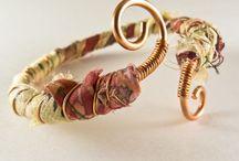 ~fabric - wire bracelet~