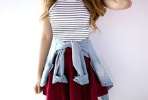 Skirt/girly outfits