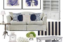 Coastal living rooms. Hamptons