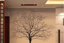 Wall painting tree