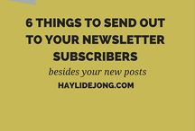 Newsletter + Mailing Lists