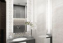 WC / bardzo dobrze wykorzystana mała przestrzeń na umywalkę