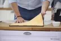 bases pour gâteaux et garniture