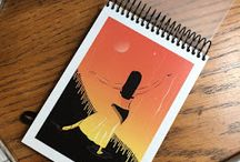 LIBRETAS PERSONALIZADAS • lauraboceta illustrations / Libretas y cuadernos handmade personalizados, con hoja blanca y goma de cierre para llevar en bolso.