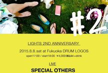 2015.08.08 / 『LIVE LIGHTS#2 ~LIGHTS 2nd anivarsary party~』福岡・DRUM LOGOS Schroeder-Headz [須藤優/千住宗臣]