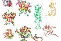 Эскизы татуировок / Эскизы татуировок от лучших художников и мастеров со всего света