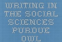 Writing in the Social Sciences / Guidelines for writing in a role within the social science umbrella