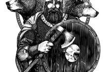 Viking tattoo drawing