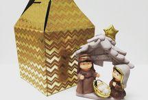 Natale / Oggetti natalizi in polvere di ceramica realizzati e dipinti a mano!
