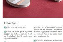 Bijoux - Avec du béton / Bijoux à réaliser avec les moules et le béton Rayher