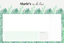 Desk Pads by Unique Planners / Our personalised desk pads will help you organise your daily tasks in style.   They contain 100 personalised A4 sheets in landscape format, and are available in many stylish and functional designs.  Simply add your name and order yours today!