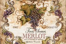 Obrázky na transfér - víno