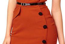 Vestidos vintage botões lateral