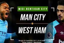 Prediksi Manchester City vs West Ham 03 Desember 2017