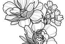 floral tatto design