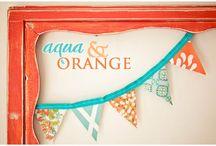Orange & Aqua...