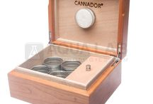 Cannador Cannabis Humidors / The Cannador is a uniquely designed airtight cannabis container for short and long-term storage. Cannador preserves top shelf bud by controlling humidity at the perfect ratio maintaining freshness and taste.