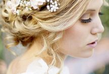 wedding hairstyle & flower