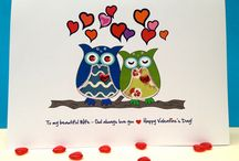 Valentine Cards / A range of Owl Valentine Cards