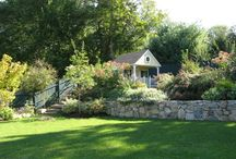 backyards with retaining walls