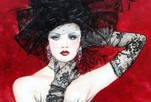 ❀...Red, Black & White