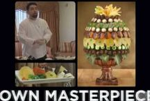 Fruit & Vegetable Arrangements / DIY ideas for arranging food into the best designs display, centerpieces and competition.
