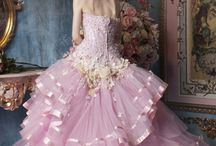 Ball gown and wedding dress