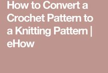 Change knitting to crochet
