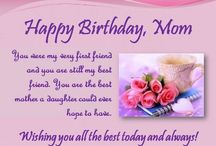 Happy birthday / To my mom