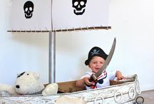 A Treasure Chest of Pirate Party Ideas / Ahoy, matey! Welcome to my board of unique ideas & inspiration for a Pirate Birthday Party or Baby Shower {party decorations • tips • food • treasure map • treasure chest • pirate • pirate ship • swords • X marks the spot • cupcake toppers/party circles • pennant banner • party signs • water bottle /drink labels • table tent cards * buffet cards • favor tags}