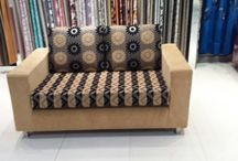 We Design and Make a Full set of Sofa, Bed, Wall to wall carpets and all other interior Works. / We are the most popular Fabric Design Makers for Sofas and Bed. Do Contact us!