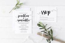 Own wedding stationery Diy