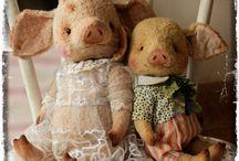 Свинья/pig / Пятачок умоет в луже И торопится на ужин, Отрубей я ей сварю, Скажет мне она: ХРЮ-ХРЮ!