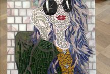 Mine mosaikvenner/my mosaic friends / Mosaik lavet af mine mosaikvenner