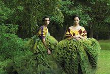 nuances de vert / Green represents nature, the environment, good luck, youth and vigor.