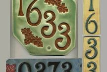 Kerámia - házszámok