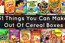 kewl and different things to make with cereal boxes