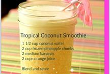 Coconut water smoothies