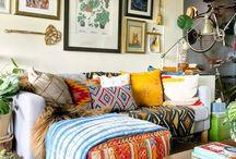salas de estar rusticas y comodas