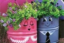Flower garden container ideas