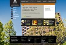Design web - Centre de conférence de la cours du lac Dow