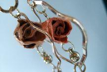 Collar de rosas de cáscara de naranja / Rosas de cáscara de naranja