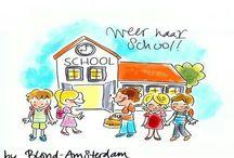 Weer naar school