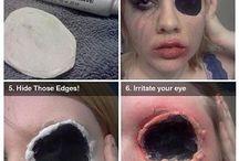 tutorial make up zombie